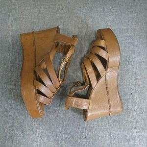 CHLOE open toe brown  wedge size 39.5